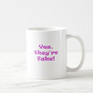 Son sí falsificación tazas de café