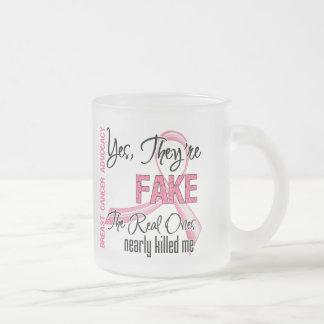 Son sí falsos - cáncer de pecho taza cristal mate