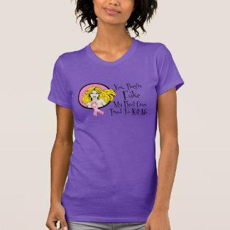 Son sí superviviente falso del cáncer de pecho camiseta