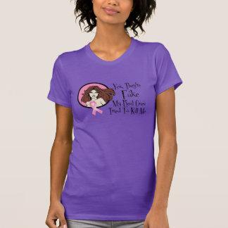 Son sí superviviente trigueno falso del cáncer de camiseta