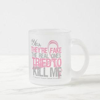 Son sí v2 falsos - cáncer de pecho taza de café esmerilada