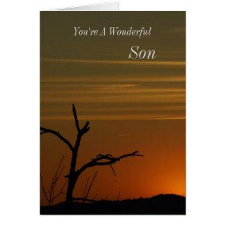 Son Sunset Greeting Card