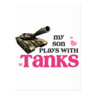 Son tanks postcard