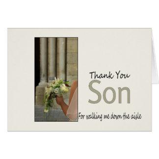 Son  Thanks for Walking me down Aisle Card