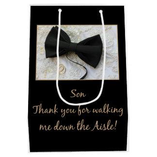 Son  Thanks for Walking me down Aisle Medium Gift Bag