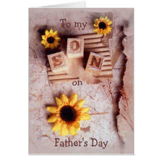 Son To my, on, Father's Day Card