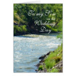 Son Wedding Day Country Stream Greeting Card