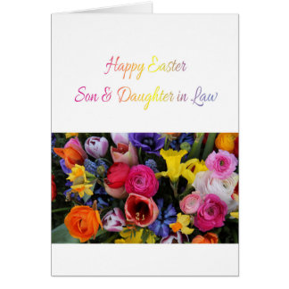 Son & Wife Happy Easter Card