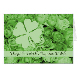 Son & Wife  St. Patrick's Irish roses Card