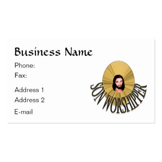 Son Worshipper Business Card Templates