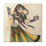 Sona Belly Dancer Ceramic Tile