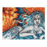 Soñador de la postal eterna del fuego