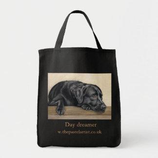 Soñador del día bolsa tela para la compra