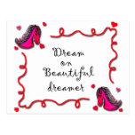 soñador hermoso postal