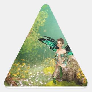 Soñador Pegatina Triangular