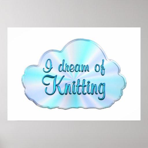 Soñador que hace punto póster