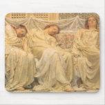 Soñadores de Albert José Moore, arte del Victorian Tapete De Raton