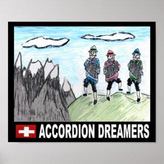 Soñadores del acordeón póster