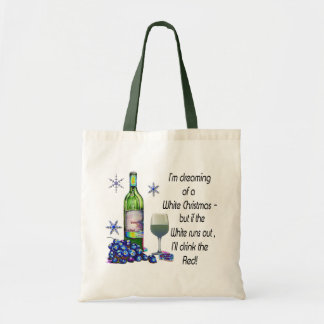 Soñando con el navidad blanco, regalos divertidos  bolsa tela barata