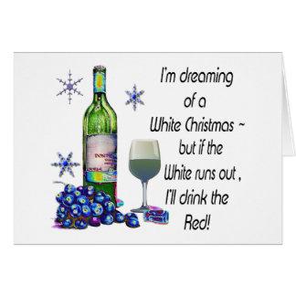 Soñando con el navidad blanco regalos divertidos tarjetas