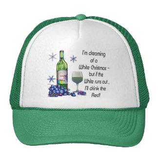 Soñando con el navidad blanco, regalos divertidos  gorras