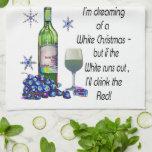 Soñando con el navidad blanco, regalos divertidos  toallas de cocina