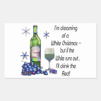 Soñando con el navidad blanco regalos divertidos etiqueta