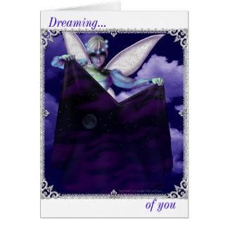 Soñando…, con usted tarjeta de felicitación