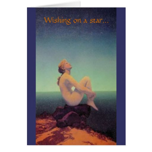 """""""… soñando con usted"""" tarjeta de Maxfield Parrish"""