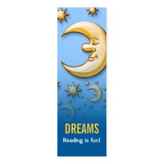 ¡Soñando la luna - la lectura es diversión! señal Tarjetas De Visita Mini