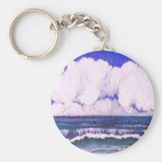 Sonata - arte del océano de CricketDiane Llavero Redondo Tipo Pin