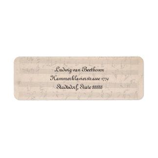 Sonata de Beethoven Hammerklavier Etiquetas De Remite