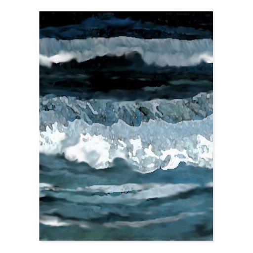 Sonata del océano - arte del océano de postal