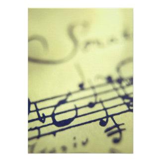 Sonata Sheet Music 1 Custom Invite