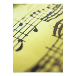 Sonata Sheet Music 3 Personalized Announcements