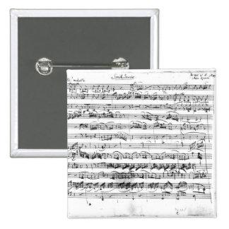 Sonate Premiere for violin and harpsichord Pinback Button