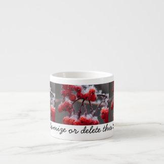 SONB Snow on Berries; Customizable Espresso Cup