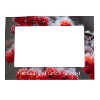 SONB Snow on Berries; Customizable Magnetic Picture Frame