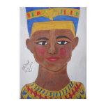 Sondeo coloreado Nefertiti del lápiz de la reina Impresiones De Lienzo