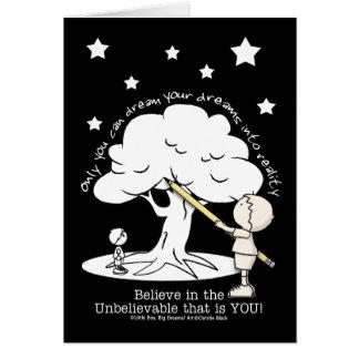 Soñe en el Realidad-Pequeño muchacho, logotipo Tarjeta De Felicitación