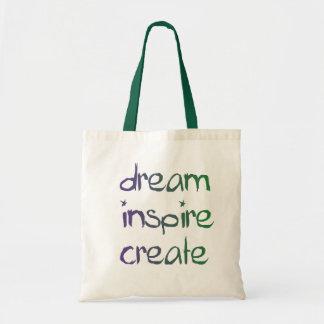 Soñe, inspire, cree el bolso bolsa tela barata
