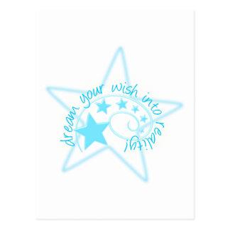Soñe su deseo tarjetas postales