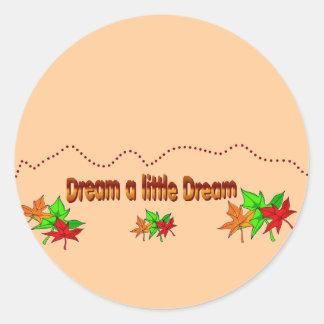 Soñe un pequeño sueño - colección de la caída etiquetas redondas
