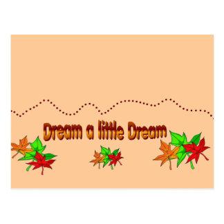 Soñe un pequeño sueño - colección de la caída tarjeta postal