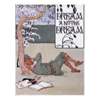Soñe un pequeño sueño tarjetas postales