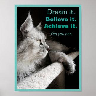 Sóñelo y hágalo poster de motivación póster