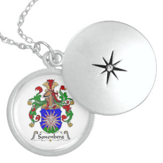 SONENBERG FAMILY CREST LOCKET NECKLACE