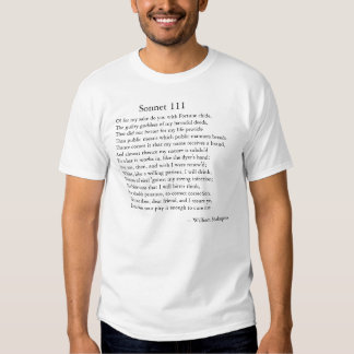Soneto 111 de Shakespeare Playera