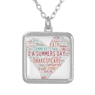 Soneto 18 de Shakespeare Collar Plateado