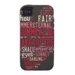 Soneto 18 de Shakespeare Case-Mate iPhone 4 Carcasas